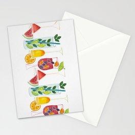 Summer Cocktails Stationery Cards