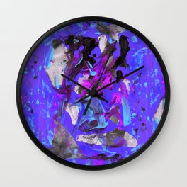 THRASHED! blue Wall Clock
