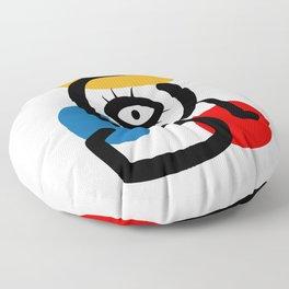 Hommage to Miro Floor Pillow