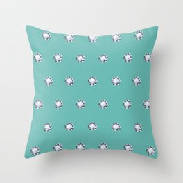 Diamond Polka Dots in Forever Blue Throw Pillow