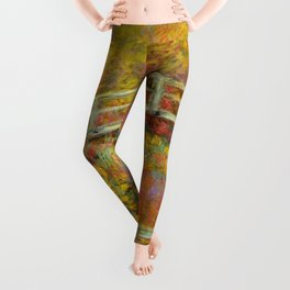 "Claude Monet ""The Japanese Bridge at Giverny"" Leggings"