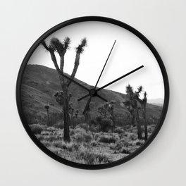 Joshua Tree at Dusk Wall Clock