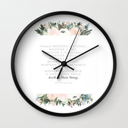 Dwell Richly Wall Clock