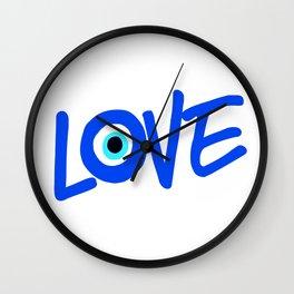 LOVE Greek Eye Design Wall Clock