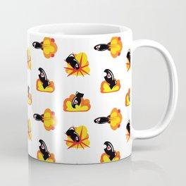 Boom! Pop Art Style Cartoon Bombs and Missiles Coffee Mug