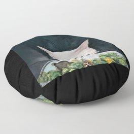 Woman Yelling at Cat Meme-4 Floor Pillow