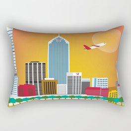 Perth, Australia - Skyline Illustration by Loose Petals Rectangular Pillow