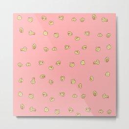Popcorn_pink Metal Print