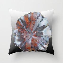 Cady Mountain Aragonite Pseudomorph (Sagenite) Throw Pillow