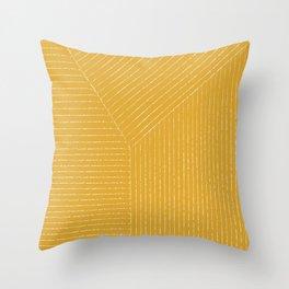 Lines (Mustard Yellow) Deko-Kissen