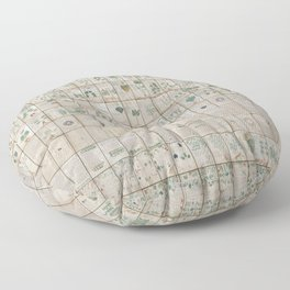 The Complete Voynich Manuscript - Natural Floor Pillow