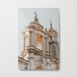 Baroque evening light in Rome Metal Print