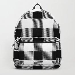 Buffalo Check - black / white Backpack