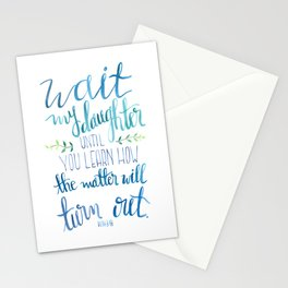 Wait My Daughter Stationery Cards