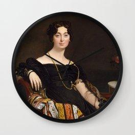 Jean-Auguste-Dominique Ingres - Madame Jacques-Louis Leblanc (Françoise Poncelle, 1788–1839) Wall Clock