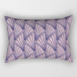 art deco pattern,vintage,silver,purple,elegant,chic,trendy, Rectangular Pillow