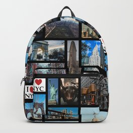 65 MCMLXV New York City By Day Postcard Collage Pattern Backpack
