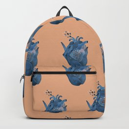 Heart in hand pattern on pink Backpack