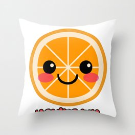 Orange Better Half Fruits Plants Healthy-food Gift Throw Pillow