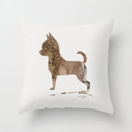 Watercolor Chihuahua No. 2 by Kathy Morton Stanion Throw Pillow