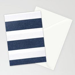 Nautical Blue & White Stripes Stationery Cards