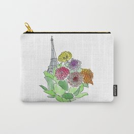 Paris, Artichoke, Dahlias Carry-All Pouch