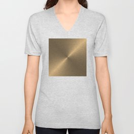 Circular metal brushed texture Unisex V-Neck