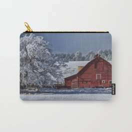 Red On White Carry-All Pouch