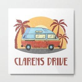 Clarens Drive  TShirt Vintage Caravan Shirt Travel Road Gift Idea Metal Print