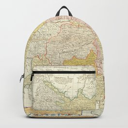 Vintage Map Print - 1740 map of China Backpack