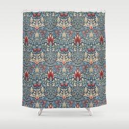 Snakeshead William Morris Textile Pattern Shower Curtain