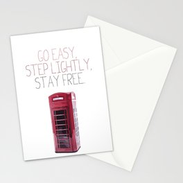 Go Easy, Step Lightly, Stay Free. Stationery Cards