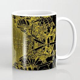Apollo Rocket Booster - Yellow Neon Coffee Mug