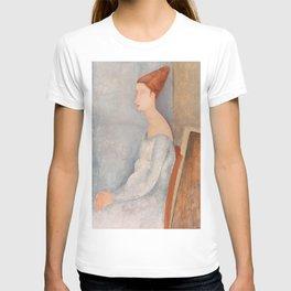 Portrait of Jeanne Hebuterne by Amedeo Modigliani, 1918 T-shirt