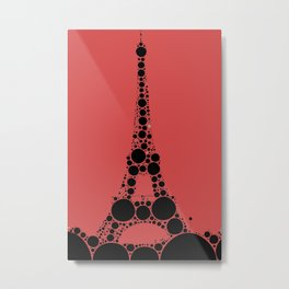 "Eiffel Tower Magenta Background - from ""Further Back"" series Metal Print"