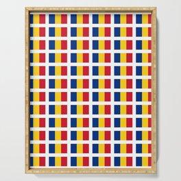 Flag of romania-romania,romanian,balkan,bucharest,danube,romani,romana,bucuresti Serving Tray