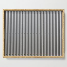 Corrugated Metal Background Serving Tray