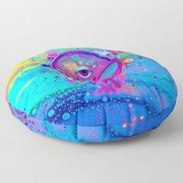 Alien Melt - pink Floor Pillow