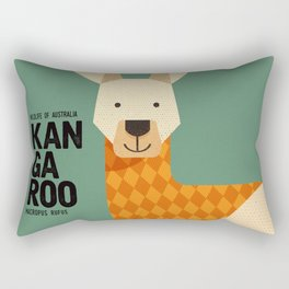 Hello Kangaroo Rectangular Pillow