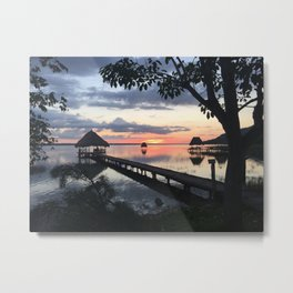 Sunset on Lake Peten Itza - Guatemala  Metal Print
