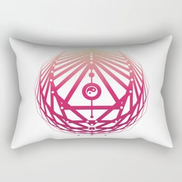 Radiant Abundance (white-sunrise) Rectangular Pillow
