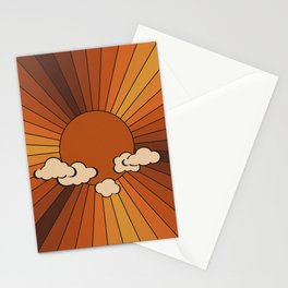 Retro Sunshine Stationery Cards
