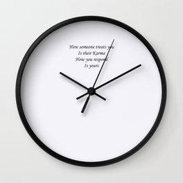 Karmic response Wall Clock