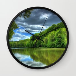 river germany tropic landscape hessen lich hdr nature Wall Clock
