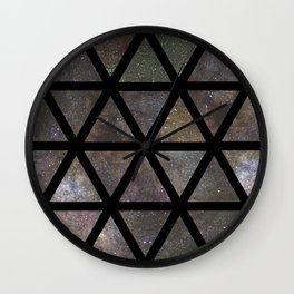 TRIANGLE GALAXY REPETITION Wall Clock