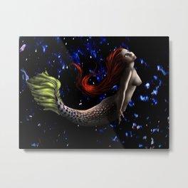 Mermaid In The Deep Metal Print