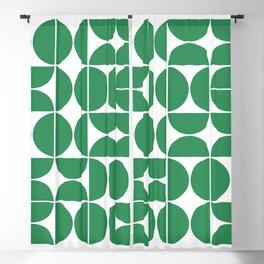 Mid Century Modern Geometric 04 Green Blackout Curtain