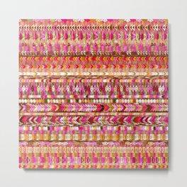Colorful Ethnic Pattern Metal Print