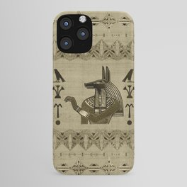 Egyptian Anubis Ornament iPhone Case