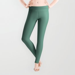 Botanical Embrace ~ Soft Green Leggings